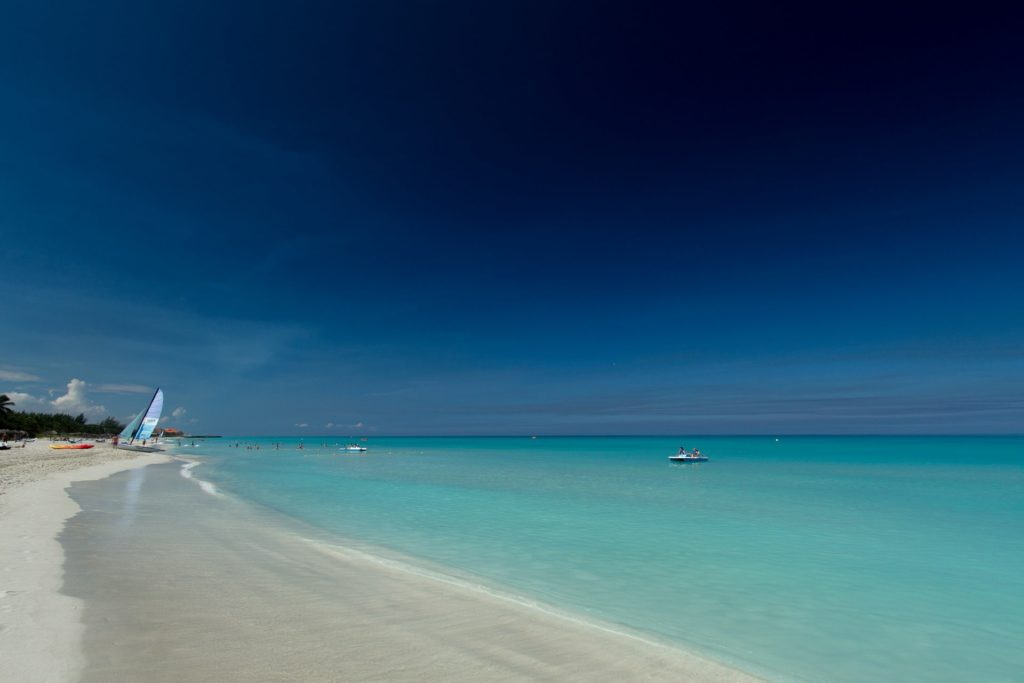 Image showing white sandy beaches and turquoise sea